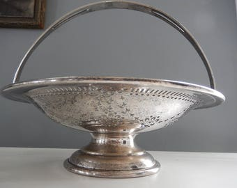 Silver Plate Basket - Antique Silverplate - Brides Basket - English Silver Plate - Victorian Silver Plate - Formal Dining