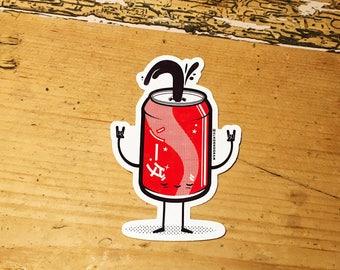 Soda (Coca-Cola) vinyl sticker