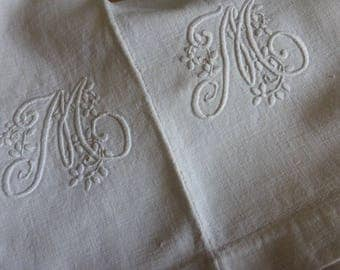 Rustic Pure  Linen Sheet, Antique French,  Early Center Seam, Circa 1880ish