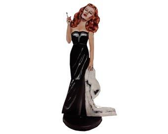 Rita Hayworth  Hand Painted 2 D Art Figurine