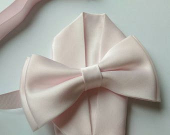 Adult Men Kid Icy Pink Light Pale Pink bow tie