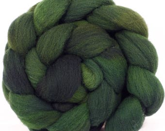 Hand dyed top for spinning - Wilderness - (5 oz.) Charollais