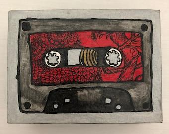 Cassette Tape Mini Collage