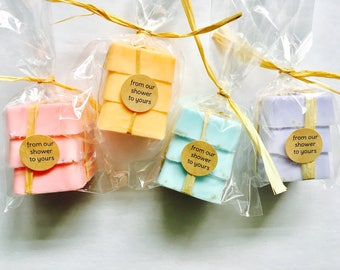 50 Wedding Favors (Set of 3) - soap - Bridal Shower - Party Favors - Bridesmaids Gift - Rustic Wedding - Custom Wedding Favors