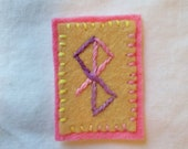 Peace Hand Embroidered Patch - to bring peace, Galdrabok, Icelandic Magic, Norse Witchcraft, Norse Stave, Norse Pagan