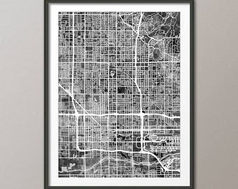 Phoenix Map, Phoenix Arizona City Map, Art Print (2998)