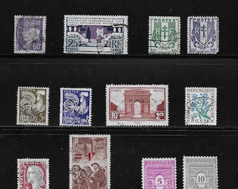 France - Vintage Stamps (2F) - early to mid 1900s