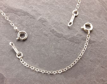 """Necklace Extender, 1"""", 2"""", 3"""", 4"""", 5"""", removable extender, silver necklace, gold, sterling silver, gold filled, chain extender"""