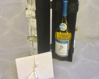 Love Letter Wine Box, Wedding Wine Box tradition for love that lasts forever. BLACK