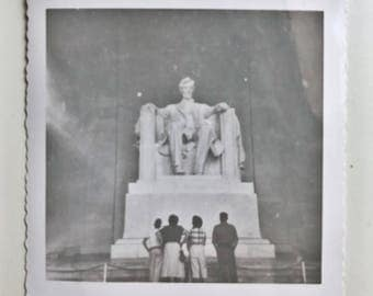 Original Vintage Photograph | Seeing Abraham Lincoln