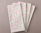 Contemporary Floral Napkins, Set of 4 Cloth Napkins, Everyday Napkins