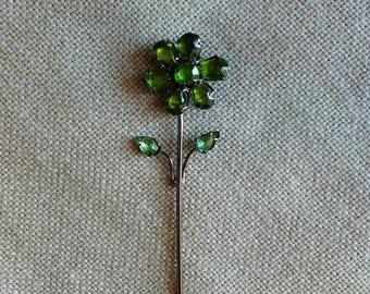 Rhinestone Flower Clip, Photo Holder, Tag, Pendant