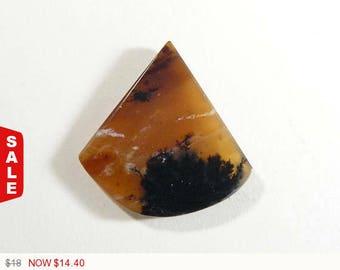 Black Plume Opal Rare Cabochon, 25x25x4 mm, designer gemstone cabochons, flat back cabochon, natural stone cabs (81571)