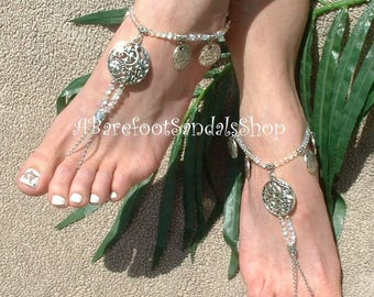 Moon & Stars Barefoot Sandals Boho Toe Ankle Bracelet Boho Style Sandal Love Beyond the MOON STARS Foot Ankle Toe Jewelry Boho Foot Jewelry