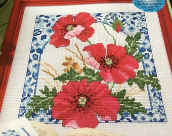 PERFECT POPPIES - Cross Stitch Pattern Only
