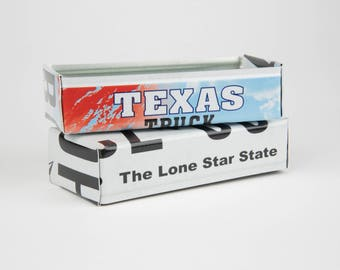 Texas license plate box - father's day gift - gift for mom's dad's and grad's - Texas gifts - graduation gift - graduation gift box