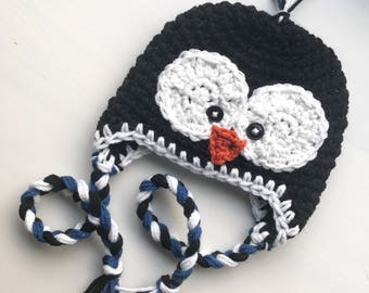 Crocheted Hat | Penguin