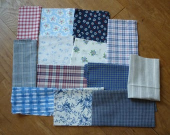 set of fabrics for patchwork 197 coupons