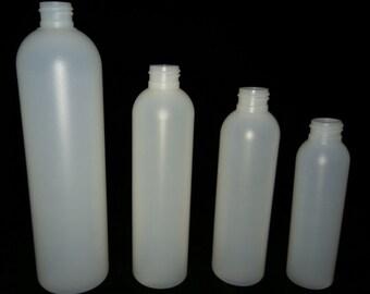 PET Natural (Frosted) Slim Boston/Bullet Bottles (bottle only)