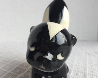 CIJ Vintage Ceramic Skunk Figurine / California Pottery Phew by De Lee
