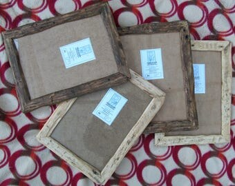 Rustic/driftwood style frames in locally sourced,recycled, old pine.Medium dark or clear beeswax finish.To fit A4
