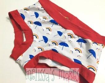 L Umbrella Undies - Underwear - Scrundies - Womens Underwear - Womens Panties - Boy Shorts - Womens Undies - Size Large - Scrundlewear