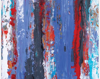 Abstract Wall Art 'Urban Life 15' by Celeste Reiter - Urban Decor Contemporary Color Layers Artwork on Metal or Plexiglass