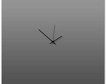 Contemporary Clock 'Grayout Square Clock' by Adam Schwoeppe - Original Gray Kitchen Clock Minimalist Wall Decor on Aluminum Polymetal