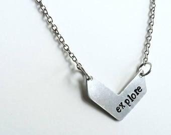 Explore Inspiration Necklace - Quote - Inspiration Necklace - Delicate