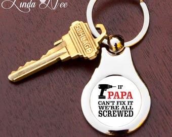 si papa no puede arreglarlo somos todos keychain keychain de papa custom papa
