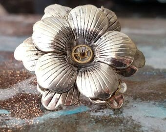 Steampunk Flower Ring