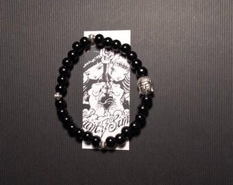 Bracelet beads silver Tierracast Buddha MC Ink