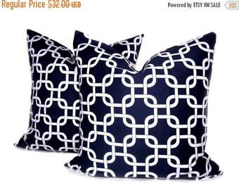 15% Off Sale Pillow Decorative Pillow Blue Pillow Cover throw pillows Accent Pillow navy Pillow Cushion Chain Lattice pillow Sofa Pillow  To