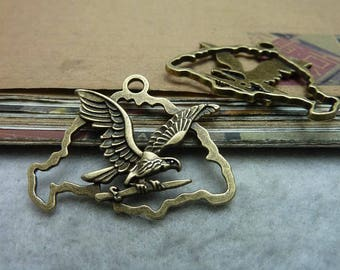 The alloy antique bronze plating eagle connector cab setting