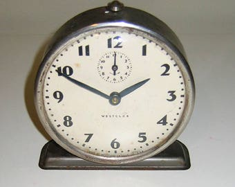 Vintage 1950s Westclock Bingo alarm clock