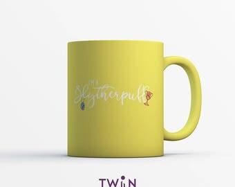I'm A SLYTHERPUFF Ceramic MUG - Hogwarts House Gift - Harry Potter Gift