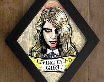 Zombie Girl (Night of the Living Dead) Living Dead Girl Diamond framed print