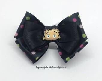Black Betty Boop Hair Bow