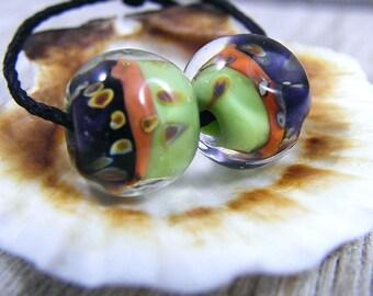 Handmade Lampwork Beads - Earring Pairs ~ Pesha ~Southwest-Boho-Earring Pairs