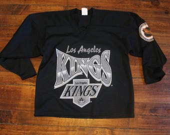 Los Angeles Kings hockey jersey mesh NHL road hockey CCM black