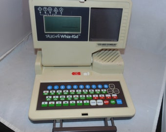 Vintage 1986 Vtech Talking Whiz Kid Computer game Electronic learning educational