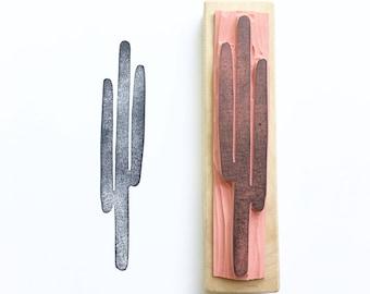 Cactus stamp, small cactus stamp, cactus art, simple cactus stamp, desert cactus, rubber stamp, handmade, desert stamp, cacti stamp
