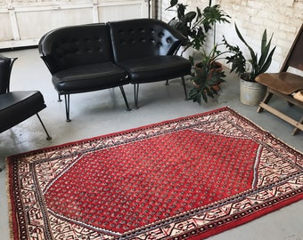 "SHIPS FREE! Vintage Persian Area Rug - 4'3""x6'9"""