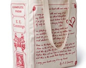 I Carry Your Heart Book Tote - E. E. Cummings, Tote Bag, Literary, Book Lover, Books, Literature, Teacher Gift, Gift for Reader