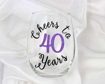 Cheers to 40 years, 40th birthday gifts for women