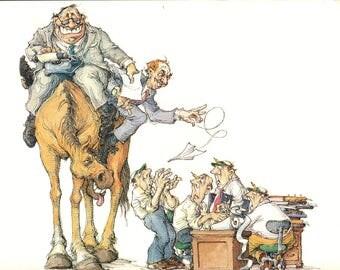 Schweber-High Horse-1985 Lithograph