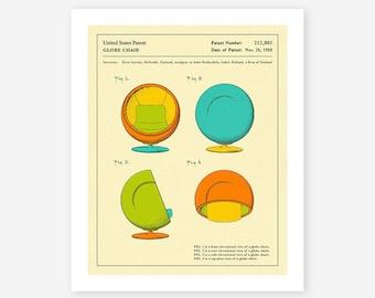 GLOBE CHAIR (1968) (Giclée Fine Art Print, Photo Print or Poster Print)