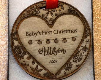 Baby's First christmas ornament  personalized