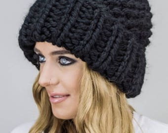 Handknitted Beret Beanie Winter Hat Winter Trend