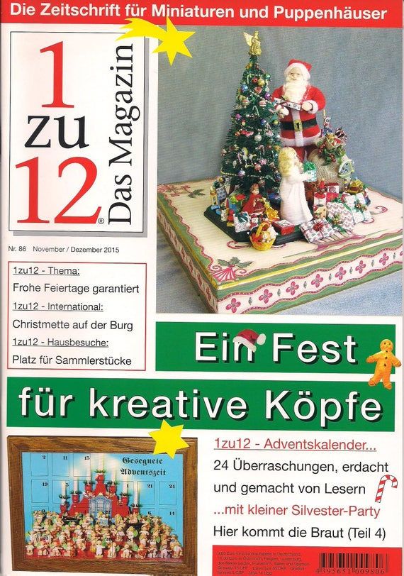 86-1zu12 The magazine, the Journal for Miniatures and Doll houses, No. 86 November/December 2015 A feast for Creative minds